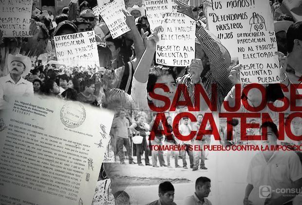 """San José Acateno: """"Tomaremos el pueblo contra la imposición"""""""