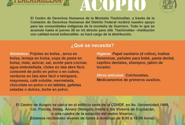 Centros de Acopio para la Montaña de Guerrero