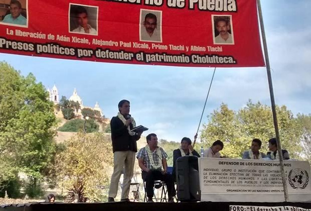 Testimonio de defensa de Cholula ante la ONU