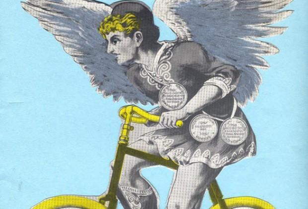 Un ángel en bicicleta.