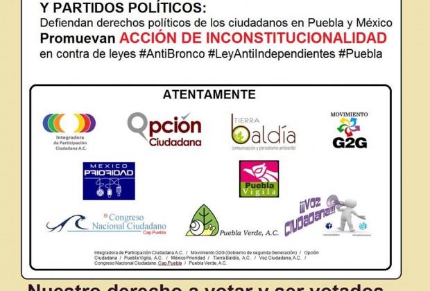 Candidaturas independientes: #SinPartidos #SinRetroceso. Carta a los senadores de la República