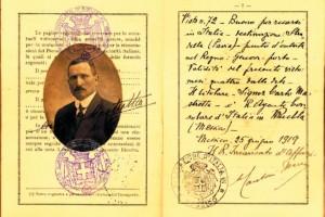 IV. Pasaporte de Carlos Mastretta Magnani. 1919