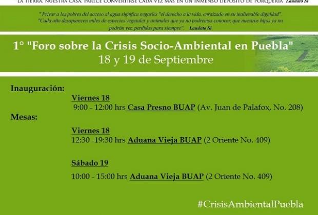 Primer Foro sobre la crisis socio-ambiental en Puebla