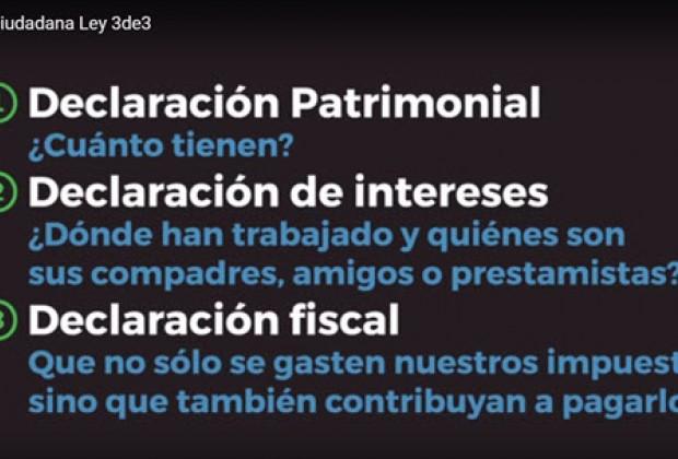 Ley 3 de 3: los ciudadanos podemos construir otro México contra la corrupción y la barbarie