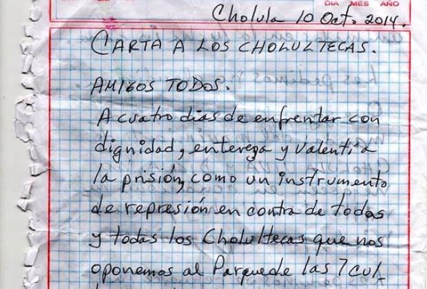 El Estado contra las Cholulas: cartas desde la cárcel para un juicio