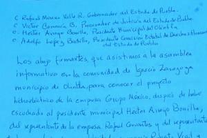 Manifiesto a las autoridades en rechazo a Grupo México
