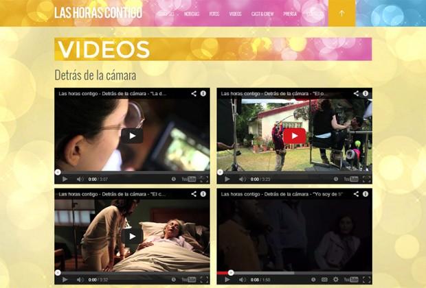 Las horas contigo/ Los videos detrás de las cámaras