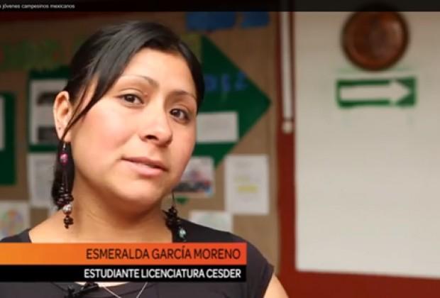 Otro mundo posible: Esmeralda, campesina universitaria por el CESDER