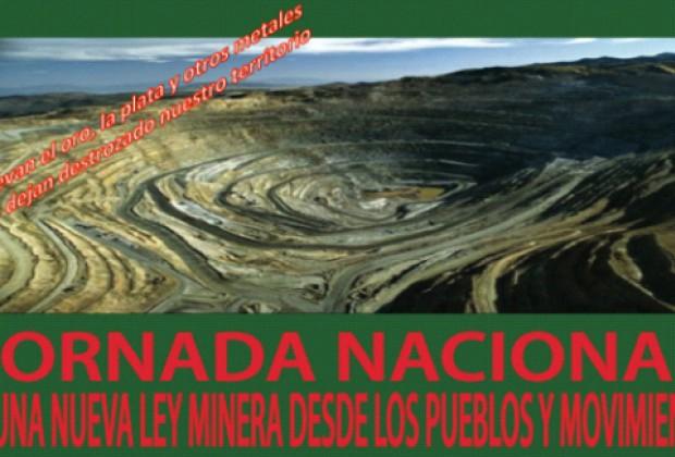 Por una nueva ley minera desde los pueblos y movimientos sociales