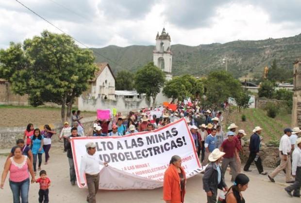 El reclamo campesino contra el oro canadiense en Ixtacamaxtitlán