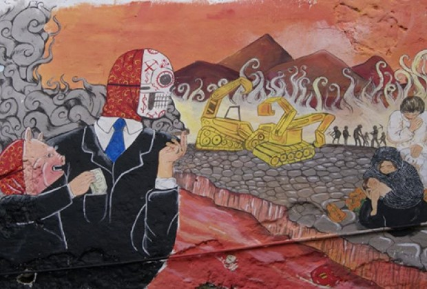 La lucha por los que vienen llegando. Mural en Xochitlán, Puebla