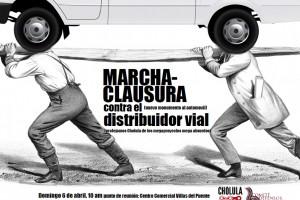 Llaman a marcha contra distribuidor vial en Cholula