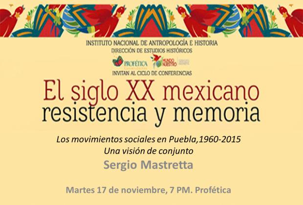 Puebla, la lucha por la defensa del territorio. Una visión de conjunto/Conferencia de Sergio Mastretta