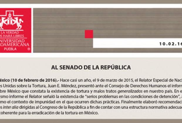 Universidades Jesuitas: deficiente e inefectiva la ley de Peña Nieto contra la tortura